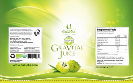 Gravital Juice CaliVita (946 ml) Suc de graviola şi aloe vera organice [1]