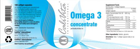 Omega 3 concentrate CaliVita (100 capsule-gelatinoase) Concentrat de Omega 3 [1]