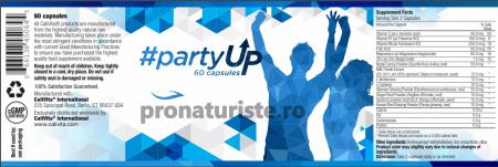 #partyUp (60 capsule) supliment alimentar destinat reducerii mahmurelii şi protecţiei hepatice1