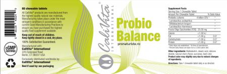 Probio Balance (60 tablete) Pro şi prebiotice [1]