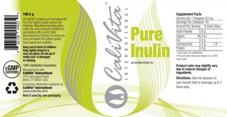 Pure Inulin (198.5 g)  sprijină sănătatea sistemelor digestiv și imunitar. [1]