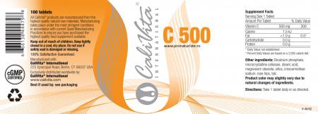 Vitamina C 500 CaliVita (100 tablete) Doză crescută de vitamina C [2]