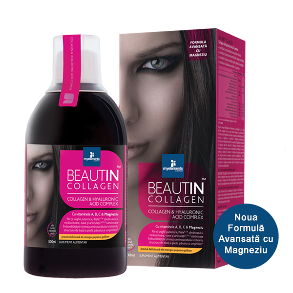 Beautin Colagen lichid cu Capsuni si Vanilie + Magneziu 500ml Myelements [0]