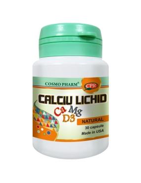 Calciu Magneziu Vitamina D Lichid 30cps Cosmo Pharm [0]