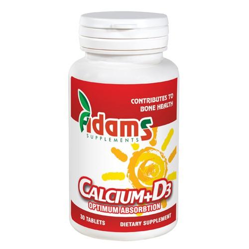Calciu + Vitamina D3 30 tab Adams Supplements [0]