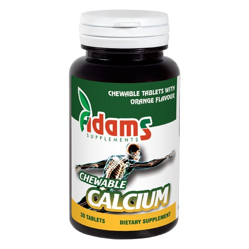 Chewable Calcium 30 tab Adams Supplements [0]