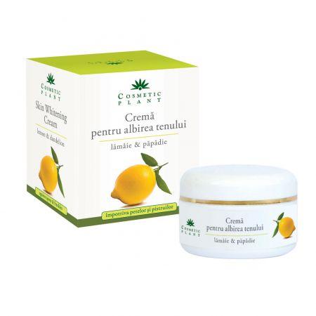 Crema pentru albirea tenului cu lamaie si papadie 50ml Cosmetic Plant [0]