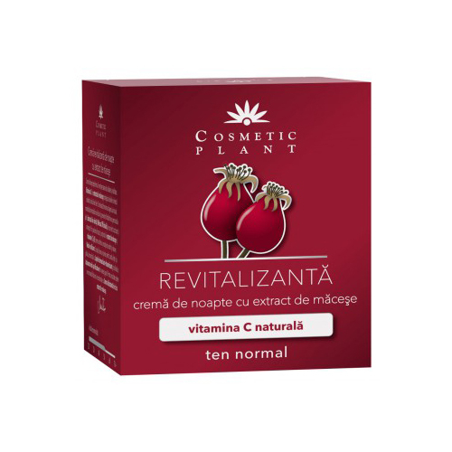 Crema revitalizanta de noapte cu extract de macese 50ml Cosmetic Plant [0]