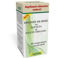 Drojdie de Bere cu Alfa Alfa si Siliciu Organic 60Cpr Hofigal [0]