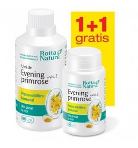 Evening Primrose + Vit E 90+30cps gratis Rotta Natura [0]