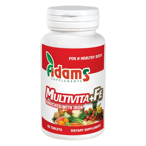 Multivita+Fe 90tab. Adams Supplements [0]