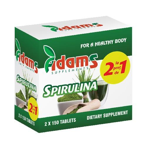 Pachet Alga Spirulina 400mg 150tab Adams 1+1 GRATUIT [0]