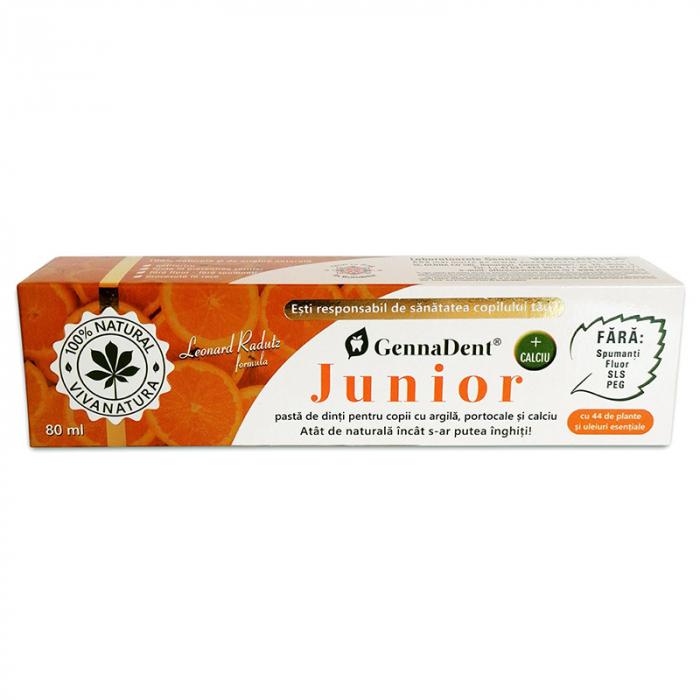 Pasta de Dinti naturala pentru Copii cu Argila si Portocale 80 ml GennaDent [0]