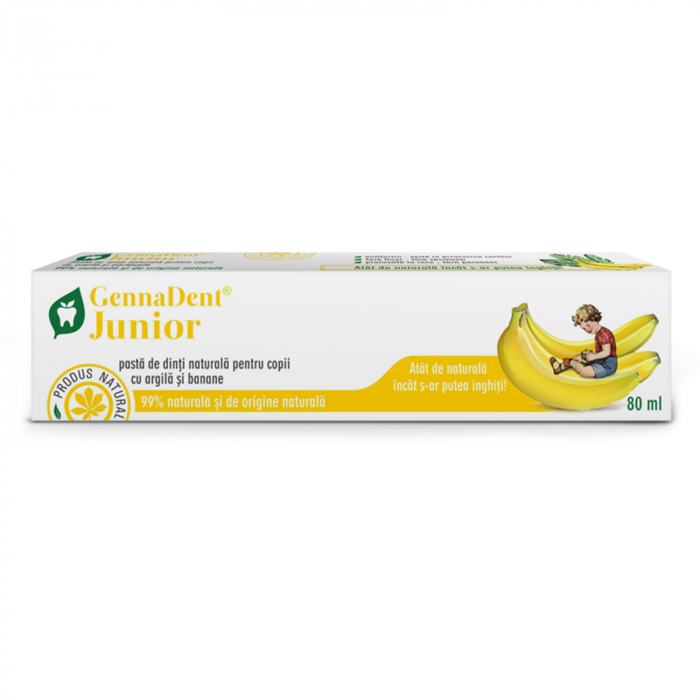 Pasta de Dinti naturala pentru Copii cu Argila si Banane 80ml GennaDent [0]
