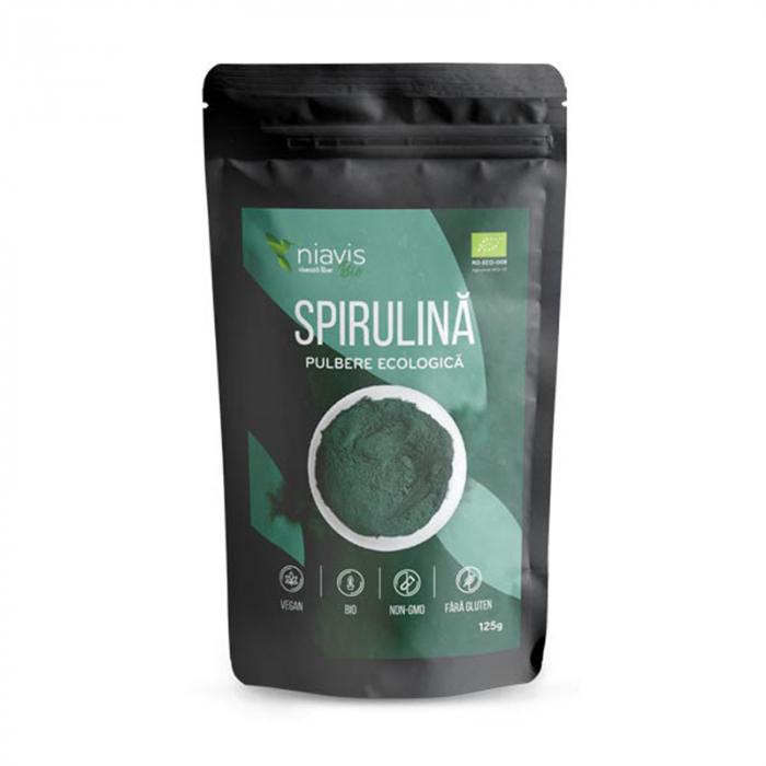 Spirulina pulbere Ecologica/Bio 125g Niavis [0]