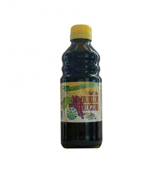 Ulei din samburi de struguri presat la rece 250ml/uz intern Herbavit [0]