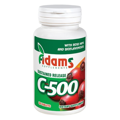 Vitamina C-500 cu Macese 30tab Adams Supplements [0]