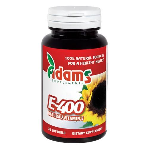 Vitamina E 400 naturala 30 capsule Adams Supplements [0]