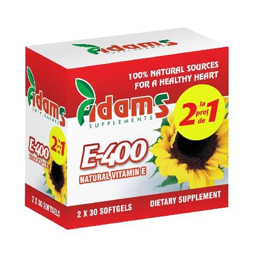 Vitamina E naturala 400mg 30cps 1+1 GRATIS [1]