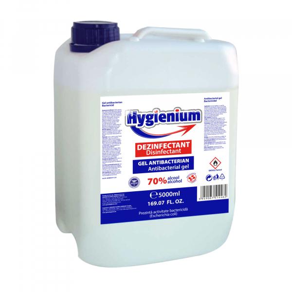 Gel dezinfectant pentru maini Hygienium, cu 70 % alcool, efect antibacterian, 5000 ml 0