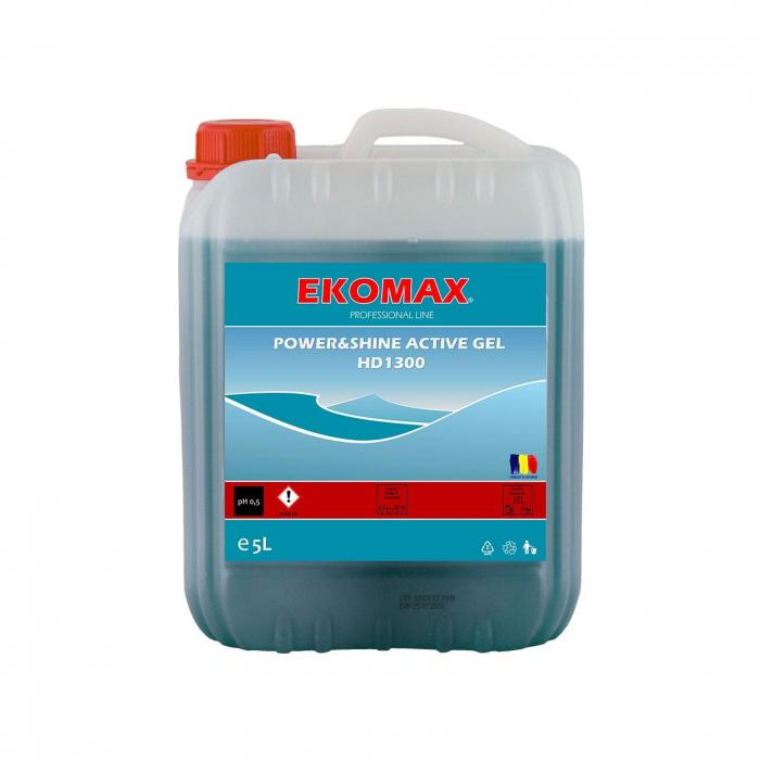 Detergent sanitar intensiv EKOMAX Power&Shine Active Gel 5L [0]