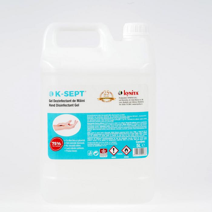 Gel Igienizant de Maini 5L K-Sept 75% Alcool cu Aloe Vera 0