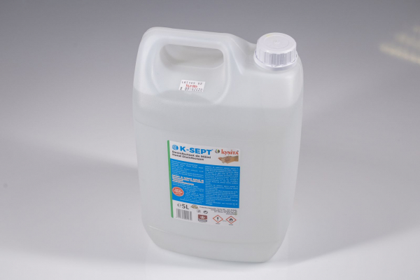 Lichid dezinfectant pe baza de alcool 75% cu glicerina K-SEPT 5 L 1