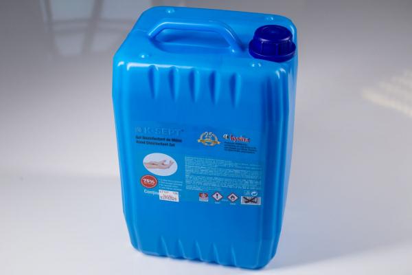 Gel dezinfectant de maini, K-Sept, pe baza de alcool 75% cu glicerina si aloe vera, 10 l [1]