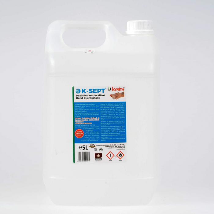Lichid dezinfectant pe baza de alcool 75% cu glicerina K-SEPT 5 L 0