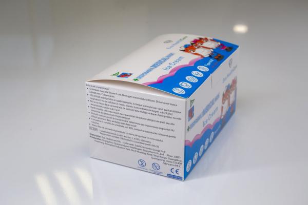 Mască Facială copii 3 pliuri Tip 2R medicala – model ICE CREAM (50 bucati) [2]