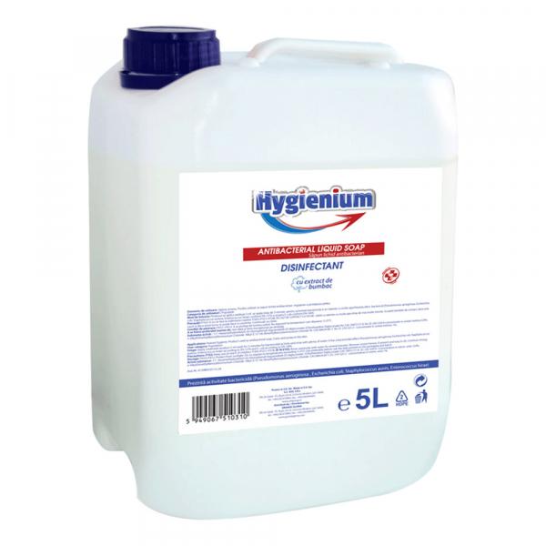 Sapun lichid dezinfectant Hygienium, cu extract de cotton si efect antibacterian, 5000 ml [0]