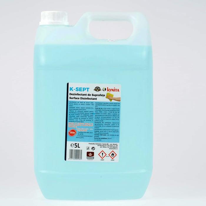 Solutie dezinfectanta de suprafete, K-Sept, pe baza de alcool 75% ,5 l 0