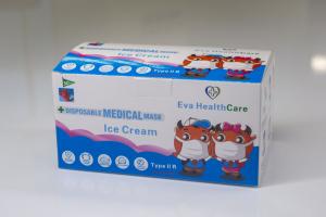 Mască Facială copii 3 pliuri Tip 2R medicala – model ICE CREAM (50 bucati) [1]