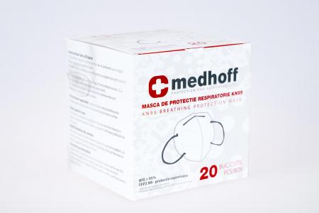 Mască cu grad de filtrare FFP2 /KN 95 Medhoff - Ambalate individual (20 bucati)1
