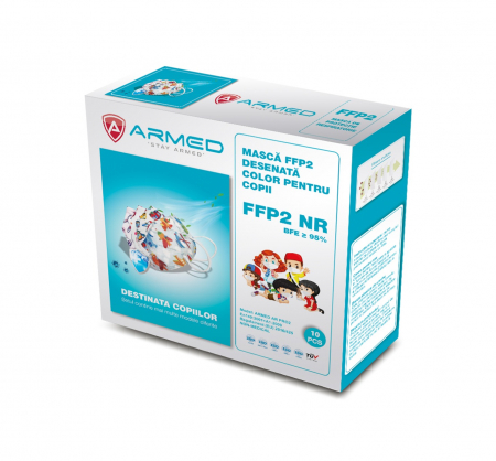 Masca protectie FFP2 pentru copii - Ambalate individual (10 bucati) [0]