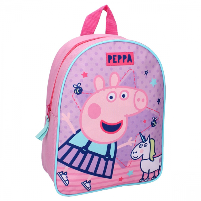 Ghiozdan gradinita Peppa Pig One Big Party 28 cm 0
