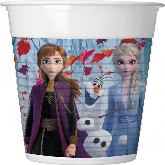 Set 8 pahare carton Frozen II 200ml [0]