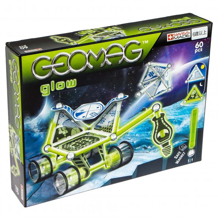 Geomag Glow, vehicul lunar, 60 piese 0