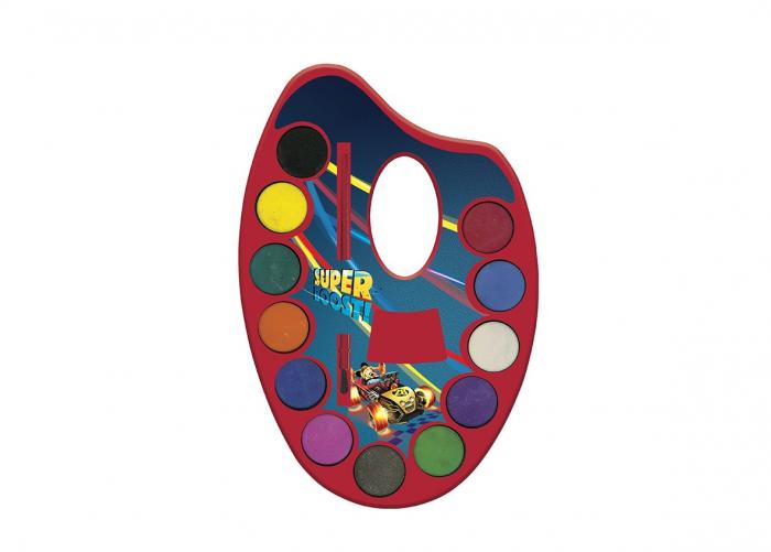 Acuarele pe paleta + pensula, 12 culori Mickey Mouse [0]