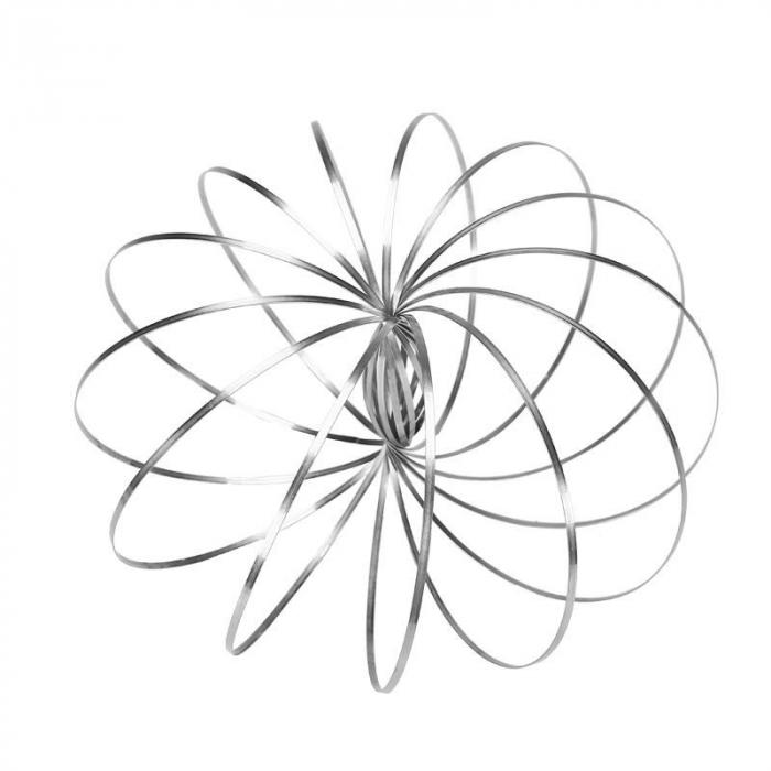 Bratara magica 3D Flow Ring, metalica, 14 cm 0