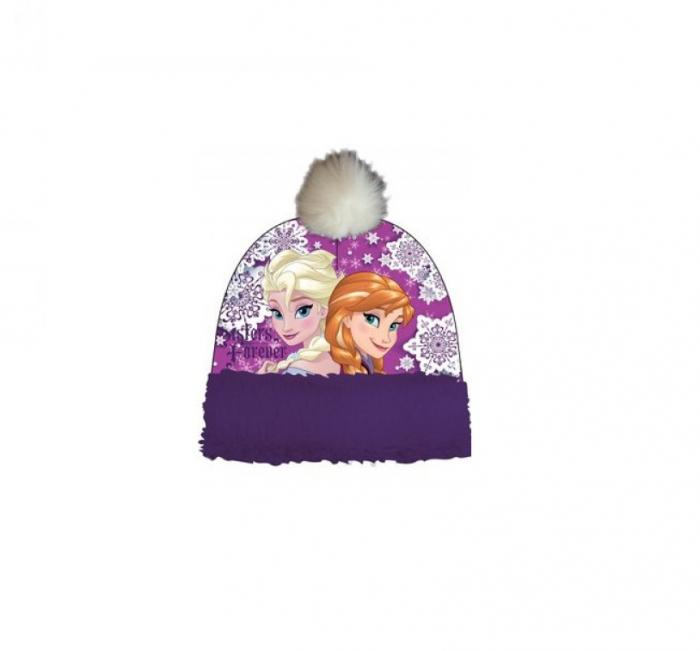 Caciula Frozen Anna si Elsa, mov 52 cm 0