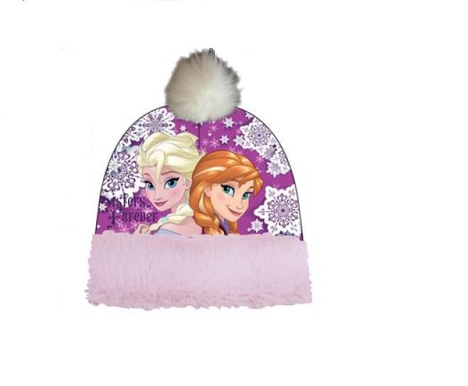 Caciula Frozen Anna si Elsa, roz 52 cm 0