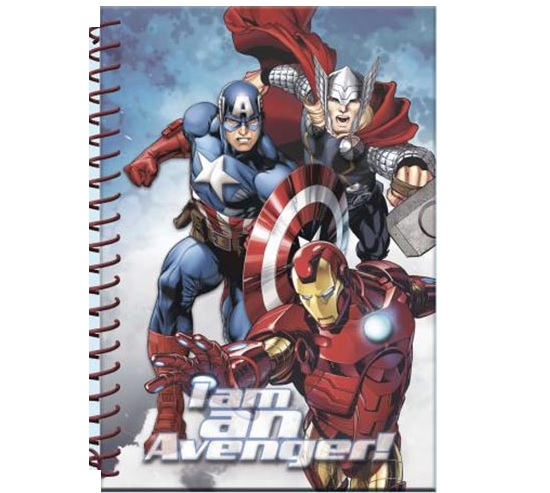 Caiet A5 cu spira Avengers 3D 0
