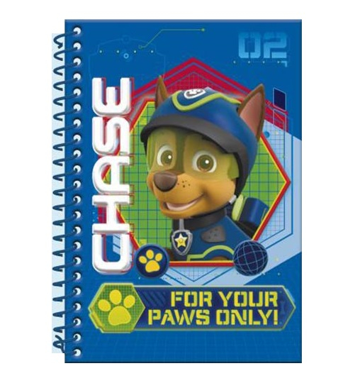 Caiet A5 cu spira Paw Patrol Chase 3D 0