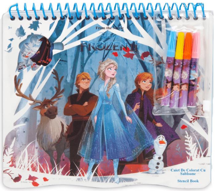 Caiet de colorat cu sabloane, Frozen 1