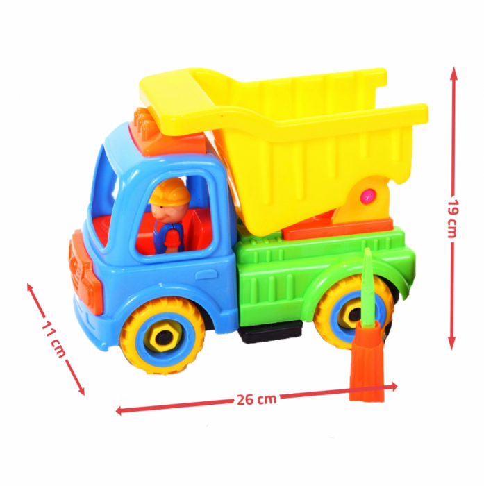 Camion cu trusa de reparatii 26x11x19 cm [2]