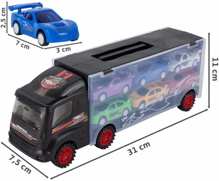 Camion valiza cu 6 masinute incluse [8]