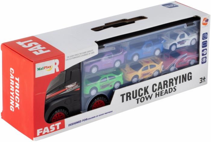 Camion valiza cu 6 masinute incluse [6]