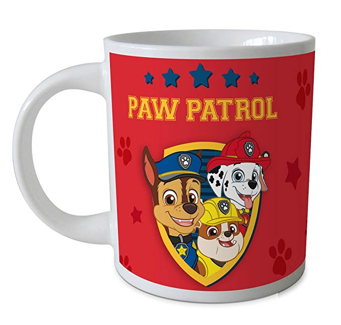 Cana ceramica Paw Patrol rosu 237 ml 0