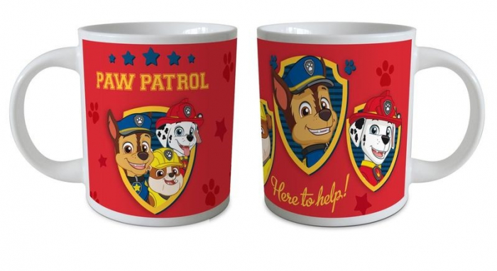 Cana ceramica Paw Patrol rosu 237 ml 1